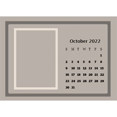 Coffee And Cream Desktop Calendar (8 5x6) By Deborah   Desktop Calendar 8 5  X 6    Gqwjgb94bm6t   Www Artscow Com Oct 2018