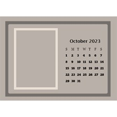 Coffee And Cream Desktop Calendar (8 5x6) By Deborah   Desktop Calendar 8 5  X 6    Gqwjgb94bm6t   Www Artscow Com Oct 2017