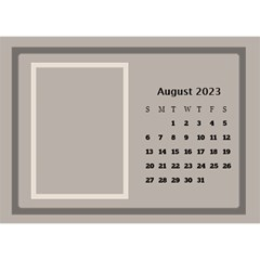 Coffee And Cream Desktop Calendar (8 5x6) By Deborah   Desktop Calendar 8 5  X 6    Gqwjgb94bm6t   Www Artscow Com Aug 2017