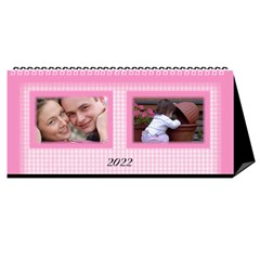 Pink Princess 2021 Desktop Calendar By Deborah Cover