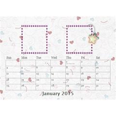 Our Family Desktop Calendar White By Daniela   Desktop Calendar 8 5  X 6    Zcb944za6e69   Www Artscow Com Jan 2015