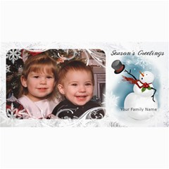 Snowman Christmas Photo Card By Laurrie   4  X 8  Photo Cards   5ngmnan6dey3   Www Artscow Com 8 x4  Photo Card - 1