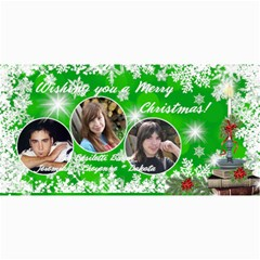 Christmas Photo Card Green Burst By Laurrie   4  X 8  Photo Cards   Cdojk8womo43   Www Artscow Com 8 x4 Photo Card - 9