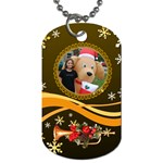Kimmy with Outside Christmas Decorations - Dog Tag (One Side)