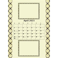 Tones Of Gold Desktop Calendar By Deborah   Desktop Calendar 6  X 8 5    6ydip2nu7cs8   Www Artscow Com Apr 2020