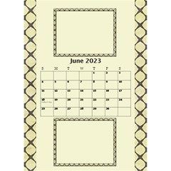Tones Of Gold Desktop Calendar By Deborah   Desktop Calendar 6  X 8 5    6ydip2nu7cs8   Www Artscow Com Jun 2020