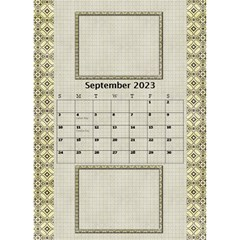 Tones Of Gold Desktop Calendar By Deborah   Desktop Calendar 6  X 8 5    6ydip2nu7cs8   Www Artscow Com Sep 2020