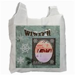 Winter Recycle Bag (1 Side) - Recycle Bag (One Side)