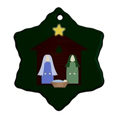 Nativity Snowflake Ornament By Mim   Snowflake Ornament (two Sides)   1zodyal1tiu8   Www Artscow Com Front