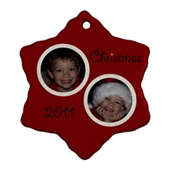 Nativity Snowflake Ornament By Mim   Snowflake Ornament (two Sides)   1zodyal1tiu8   Www Artscow Com Back