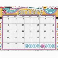 Marli s Calender 2 By Linda Ward   Wall Calendar 11  X 8 5  (12 Months)   Bm7oimqdigsa   Www Artscow Com Jan 2012