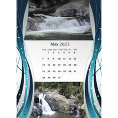 Blue Wave 2018 Desktop Calendar By Deborah   Desktop Calendar 6  X 8 5    Dk0971o7d11j   Www Artscow Com May 2018