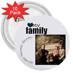 Family Button - 3  Button (10 pack)
