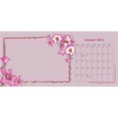 Pretty As A Picture Desktop Calendar By Deborah   Desktop Calendar 11  X 5    Yq3vxmsaw0ps   Www Artscow Com Oct 2018