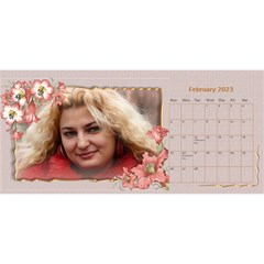 Pretty As A Picture Desktop Calendar By Deborah   Desktop Calendar 11  X 5    Yq3vxmsaw0ps   Www Artscow Com Feb 2018