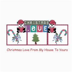Christmas Love by Amarie 8 x4 Photo Card - 1