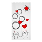 Garabatos Shower curtain 01 - Shower Curtain 36  x 72  (Stall)
