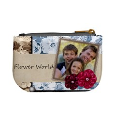 Flower World By Joely   Mini Coin Purse   3yqf6tvk0tgs   Www Artscow Com Back