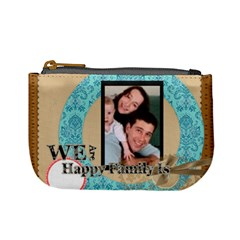 We Are Happy Family By Joely   Mini Coin Purse   A3lq1nbytefe   Www Artscow Com Front