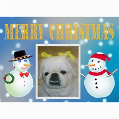 Winter Snowman Christmas Card By Kim Blair   5  X 7  Photo Cards   1lrc092m14e0   Www Artscow Com 7 x5 Photo Card - 4