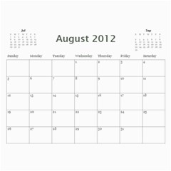 Every Year By Joely   Wall Calendar 11  X 8 5  (12 Months)   Xbvo8h29m1yz   Www Artscow Com Aug 2012