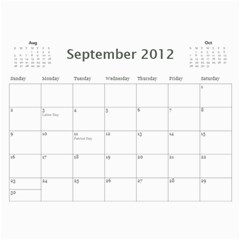 Every Year By Joely   Wall Calendar 11  X 8 5  (12 Months)   Xbvo8h29m1yz   Www Artscow Com Sep 2012