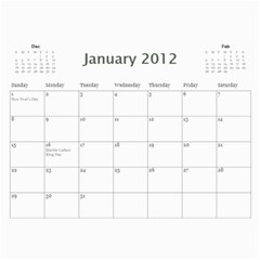 Every Year By Joely   Wall Calendar 11  X 8 5  (12 Months)   Xbvo8h29m1yz   Www Artscow Com Jan 2012