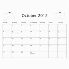 Every Year By Joely   Wall Calendar 11  X 8 5  (12 Months)   Xbvo8h29m1yz   Www Artscow Com Oct 2012