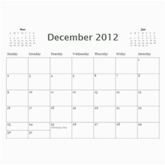 Every Year By Joely   Wall Calendar 11  X 8 5  (12 Months)   Xbvo8h29m1yz   Www Artscow Com Dec 2012