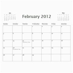 Every Year By Joely   Wall Calendar 11  X 8 5  (12 Months)   Xbvo8h29m1yz   Www Artscow Com Feb 2012