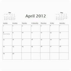 Every Year By Joely   Wall Calendar 11  X 8 5  (12 Months)   Xbvo8h29m1yz   Www Artscow Com Apr 2012