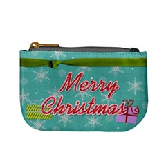 Mini Coin Merry Christmas By Martha Meier   Mini Coin Purse   H73q366i9k0o   Www Artscow Com Front