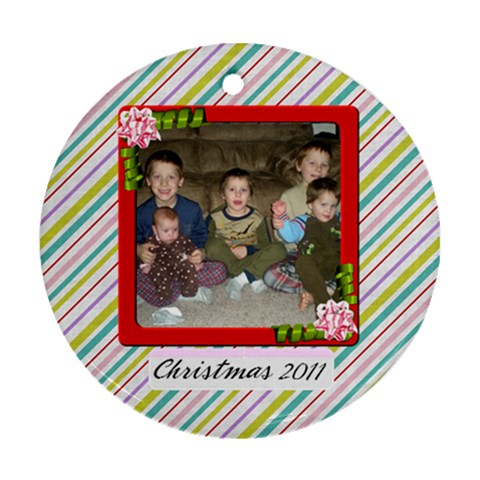 Christmas 2011 Ornament 1 By Martha Meier   Ornament (round)   U2mxfkepqu72   Www Artscow Com Front