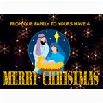 Nativity Scene Christmas Card 1 - 5  x 7  Photo Cards