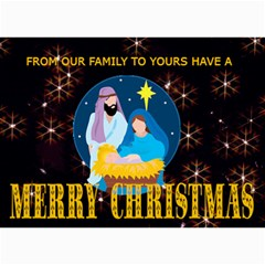 Nativity Scene Christmas Card 1 By Kim Blair   5  X 7  Photo Cards   Unxc0uy0xjyc   Www Artscow Com 7 x5  Photo Card - 9