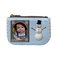 Winter Kid Fun Mini Coin Purse By Lil    Mini Coin Purse   1yr4dx1lwlwr   Www Artscow Com Front