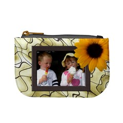 Sunflower Delight Mini Coin Purse By Deborah   Mini Coin Purse   Mlew1hw5grkn   Www Artscow Com Front