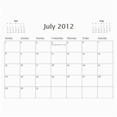 summer Of 2011 calendar By Laurel   Wall Calendar 11  X 8 5  (12 Months)   Xwq733no5wab   Www Artscow Com Jul 2012