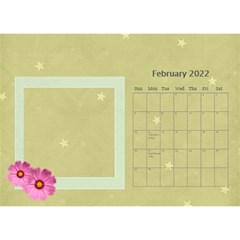Flower World By Joely   Desktop Calendar 8 5  X 6    Tg55ihqdwsyh   Www Artscow Com Feb 2015