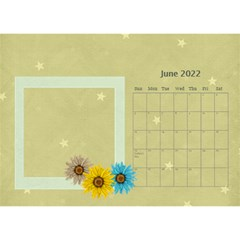 Flower World By Joely   Desktop Calendar 8 5  X 6    Tg55ihqdwsyh   Www Artscow Com Jun 2015