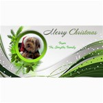 Merry Christmas 4x8 Photo card in  Green - 4  x 8  Photo Cards