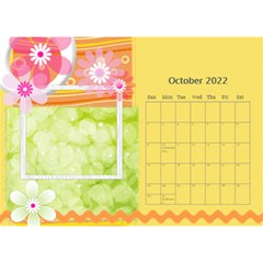 Flower World By Joely   Desktop Calendar 8 5  X 6    B78emrajczr3   Www Artscow Com Oct 2015