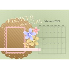 Flower World By Joely   Desktop Calendar 8 5  X 6    B78emrajczr3   Www Artscow Com Feb 2015