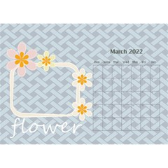 Flower World By Joely   Desktop Calendar 8 5  X 6    B78emrajczr3   Www Artscow Com Mar 2015
