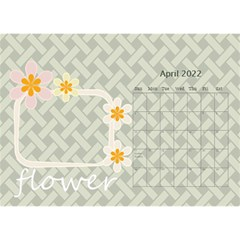 Flower World By Joely   Desktop Calendar 8 5  X 6    B78emrajczr3   Www Artscow Com Apr 2015