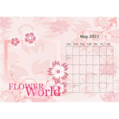 Flower World By Joely   Desktop Calendar 8 5  X 6    B78emrajczr3   Www Artscow Com May 2015