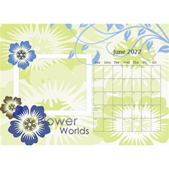 Flower World By Joely   Desktop Calendar 8 5  X 6    B78emrajczr3   Www Artscow Com Jun 2015