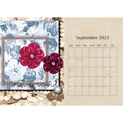 Flower World By Joely   Desktop Calendar 8 5  X 6    B78emrajczr3   Www Artscow Com Sep 2015