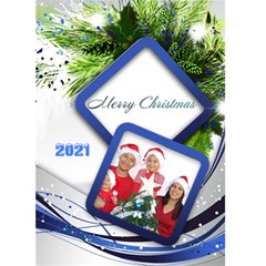 Blue And Silver Christmas 2016 (5x7) Card By Deborah   Greeting Card 5  X 7    Jnbi9ue3zh4e   Www Artscow Com Front Cover