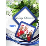 Blue and Silver Christmas 2012 (5x7) card - Greeting Card 5  x 7